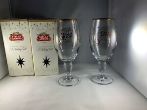 Stella-Artois-Holiday-Beer-Chalice-Glasses-Set-of-Two-2-33-cl