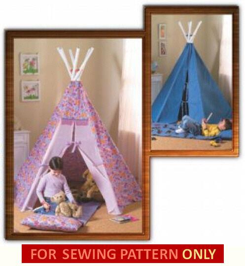 Sewing Pattern Sew Make Kids Play Teepee Tent Tee Pee TP Tepee   eBay