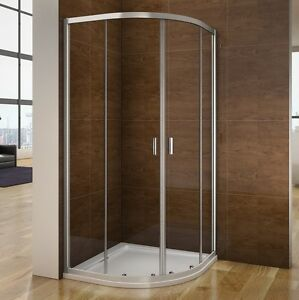 Image Is Loading New 800x800 900x900 Quadrant Shower Enclosure PU Tray