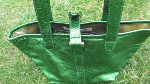 tasca pelle Borsa interna con verde riflettente a chiusura Melo cerniera con strappo in Meli vUqUfw