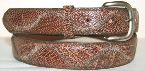 Genuine Brown Ostrich Leg Skin Belt