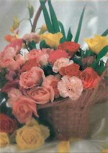 Flowers-pink-red-yellow-bouquet-Postcard