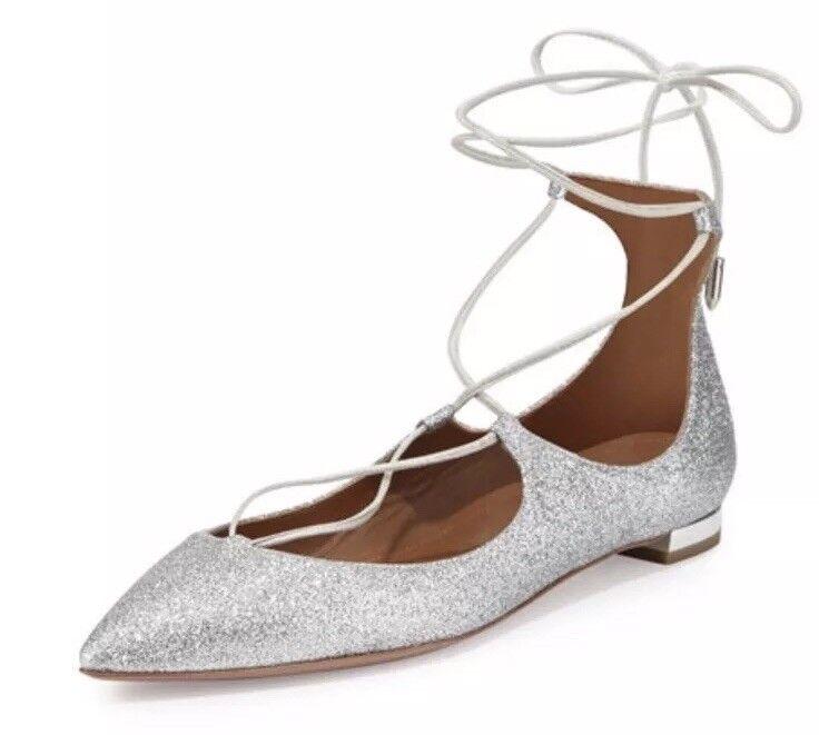 Aquazzura Brand Nya skor skor skor storA 35.5 Christy Slicer Sparkle bröllop   100% helt ny med originalkvalitet