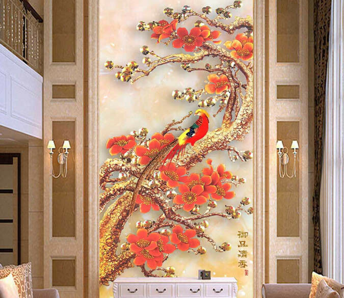 3D Squid Parrot 467 Wallpaper Murals Wall Print Wall Mural AJ WALL AU Lemon