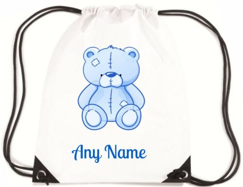 Personalised BLUE TEDDY BEAR PE//School//Swimming//Bag by Mayzie Designs®