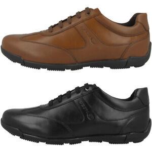 Details zu GEOX U Edgware C Schuhe Herren Sneaker Leder Freizeit Halbschuhe U843BC043BCC
