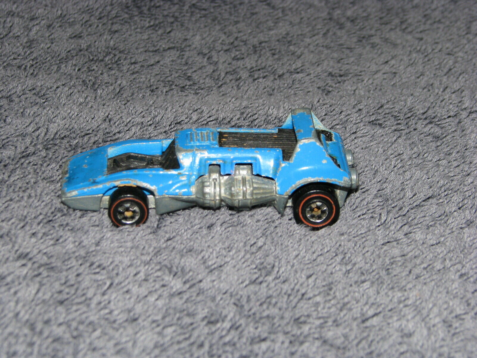 Rare Vintage Hot Wheels Redline Light bluee Enamel Double Header 1972 Hong Kong