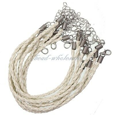 Wholesale Man-made Leather Braid Rope Hemp Necklace 3mm 13 Colors