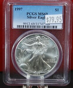 1997-American-Silver-Eagle-MS69-PCGS-Coin-BU-1-oz-US-1-Dollar-Certified-Bullion