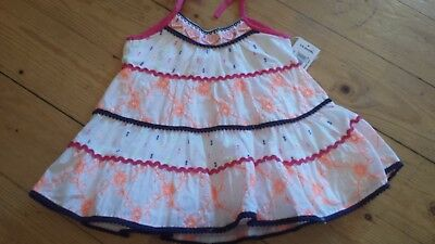 Baby Bnwt Cute Baby Girls Rio Carnival Print Dress Age 3-6 Months To Assure Years Of Trouble-Free Service Dresses