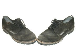 Mens-Mephisto-11-9231-45-052-Black-Leather-Suede-Air-Relax-Oxfords-Shoes-US-13