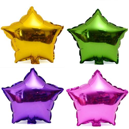 10pcs 10/'/' Five-pointed Star Helium Foil Balloon Party Wedding Birthday Decor