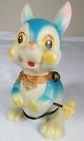 1950's Vintage Hard Plastic Hopping Rabbit Bunny Tin Wind Up, Made in Japan Toy