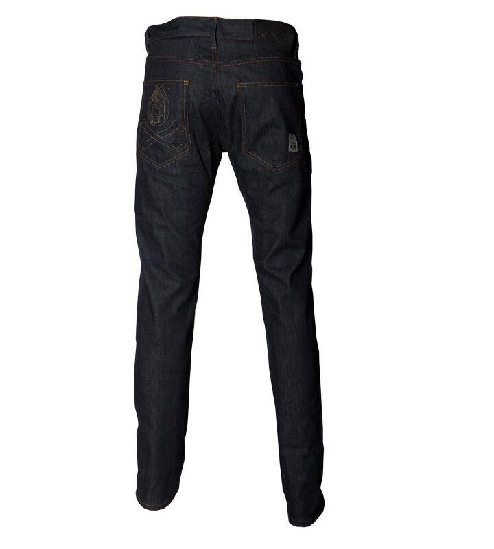 Trainerspotter Stockton Jeans Raw cimosa GRANATA Tasca