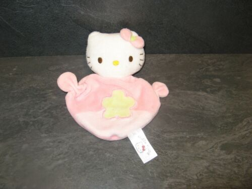 doudou grelot hello kitty rose vert fleur