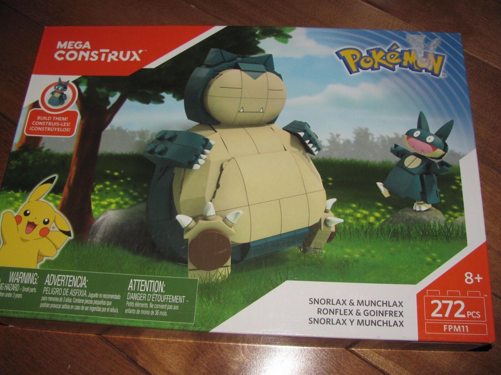 Mega Construx Bloks Pokemon SNORLAX & MUNCHLAX 272 Pcs Pcs Pcs FPM11 NEW f8efb4