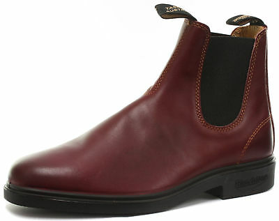 MüHsam Blundstone 1302 Chisel Toe Burgundy Unisex Chelsea Leather Ankle Boots All Sizes