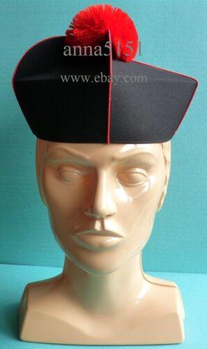 3 Horns Biretta Black with trim