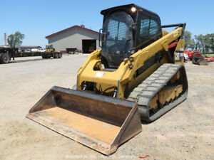 2013-Caterpillar-299D-Skid-Steer-Track-Loader-A-C-Cab-Hyd-QC-80-034-Bucket-bidadoo