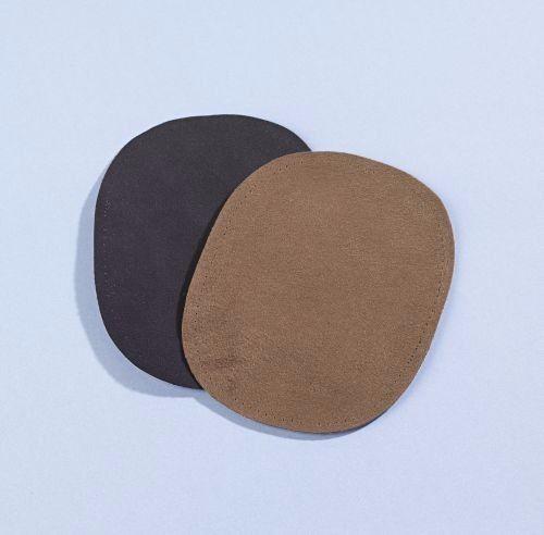 4er Bügelflicken Aufbügelflicken Flicken Stoff schwarz//braun Reparatur Aufbügeln