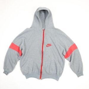 Rare-Vtg-70s-80s-NIKE-Raglan-Sweatshirt-Hoodie-Jacket-LARGE-Gray-Grunge-Skate