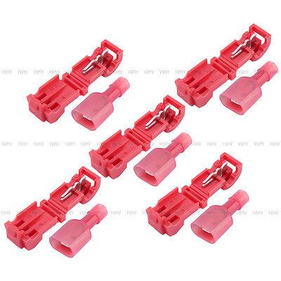 10/20pcs Quick Splice lock Wire Terminals Connectors Electrical Crimp Cable Snap