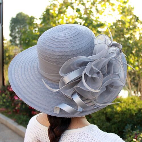 Women/'s Summer Church Kentucky Derby Cap British Tea Party Wedding Sun Hat US