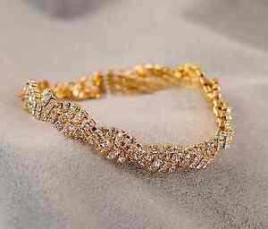 """Splendide Bracelet Strass """"effet Tressé"""" Bijoux Cérémonie Mariage Soirée"""