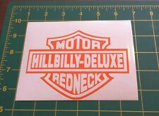 Vinyl Decal Sticker..Hillbilly deluxe Motor Redneck..Funny..Car Truck Window