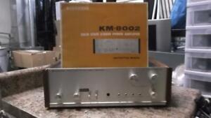 Vintage-Kenwood-Uni-Solid-State-Endstufe-Amp-km-8002-mit-Handbuch