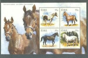 Irlande-irish Chevaux 2011 M Feuille Fine Used Belle En Couleur
