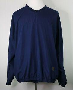 Footjoy-FJ-Mens-Size-XL-Navy-V-Neck-Golf-Long-Sleeve-Pullover-Windbreaker-Jacket