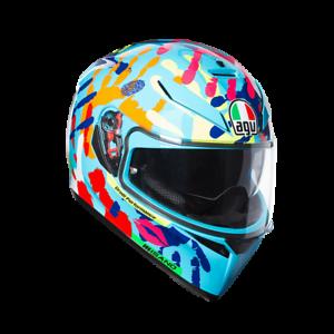 AGV-K3-SV-Motorcycle-Motorbike-Helmet-Rossi-replica-Misano-2014-over-30-off