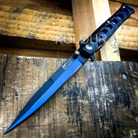 9 Italian Milano Stiletto Tactical Spring Assisted Open Folding Pocket Knife