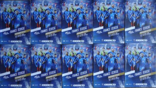 10 x official programme VIP 462016 France vs Scotland