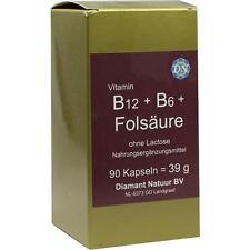 B12+B6+Folsäure ohne Lactose Kapseln 90 St