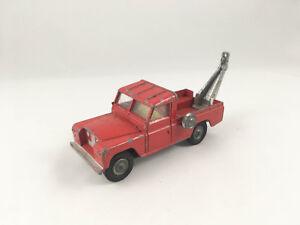 Corgi-Toys-N-477-Land-Rover-Ruptura-Remolque-Camion-Red-Diecast-1967-playworn