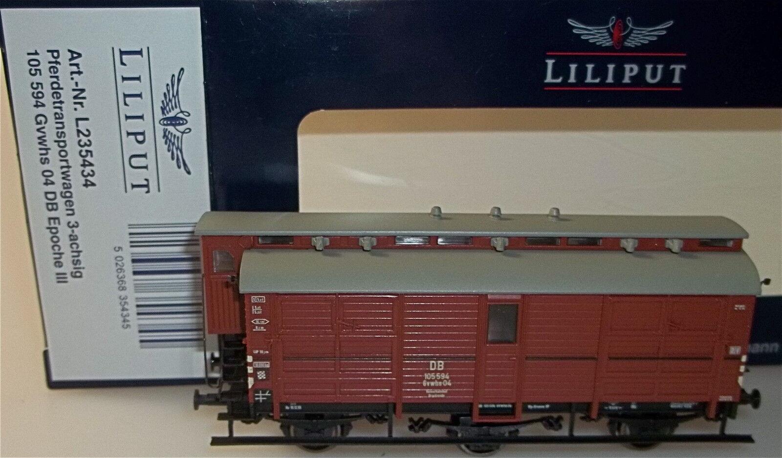 Horse Transport Waggon 3achs gvwhs 105594 DB EP3 Liliput l235434 H0 1 87 OVP