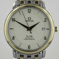 Omega De Ville 18K Yellow Gold and Stainless Steel, Mens, Automatic Chronometer