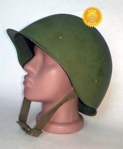 Original-Russian-Military-Soviet-Army-WWII-SSh40-type-Steel-Helmet-used