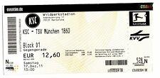 EINTRITTSKARTE KARLSRUHER SC - TSV MÜNCHEN 1860 2011-12