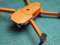 Carbon Fiber Skin Sticker Decal Full Ver For Dji Mavic Battery Remote Orange