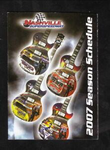Image Is Loading NASCAR 2007 Nextel Cup Pocket Schedule Nashville Superspeedway