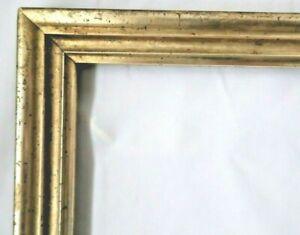 "Antique Fits 8 X 21"" Lemon Gold Gilt Picture Frame Wood Gesso Fine Art Country"