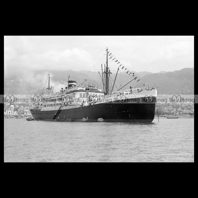 #php.01844 Photo MS COLOMBIA KNSM CRUISE 1934 PAQUEBOT OCEAN LINER