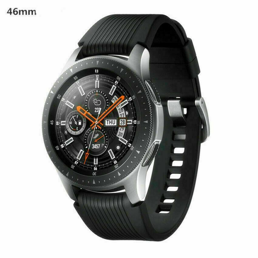 Samsung Galaxy watch sm-r800 46mm silver case classic black (Bluetooth version) 46mm black case classic Featured galaxy samsung silver watch