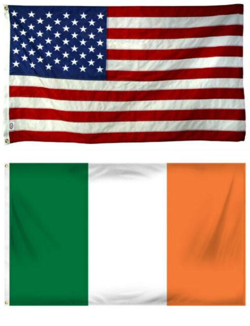 3x5 3/'x5/' Wholesale Combo Set Shamrock /& Irish Republic Ireland Flags Flag