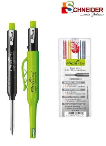 gelb Pica-Dry Tieflochmarker Automativ Pen longlife rot Ersatzminen graphit