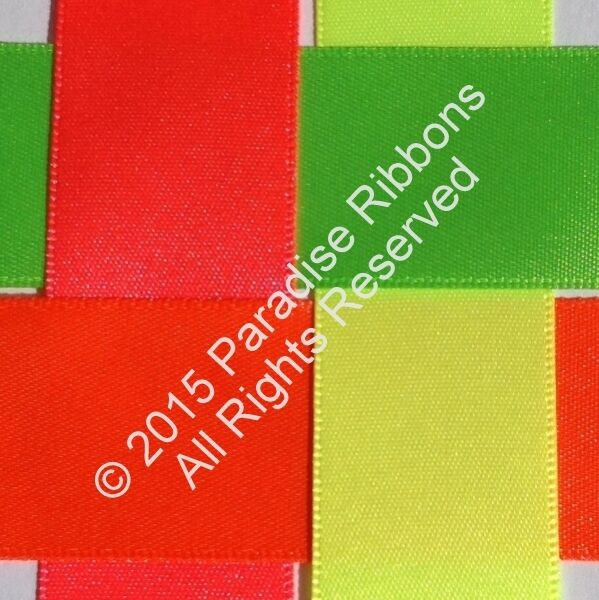 Berisfords Satin Ribbon - 'Perfect Partners Collection' - Fluorescents