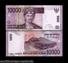 INDONESIA 10000 10,000 RUPIAH NEW 2013 - 2014 TREE UNC CURRENCY MONEY BANK NOTE